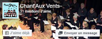 Vous pouvez consulter l'actualité de Chant'Aux Vents en cliquant ou en aimant notre page Facebook